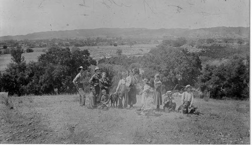 Jethro W. Cottle's family and Smith family, Alexander Valley, California, 1895