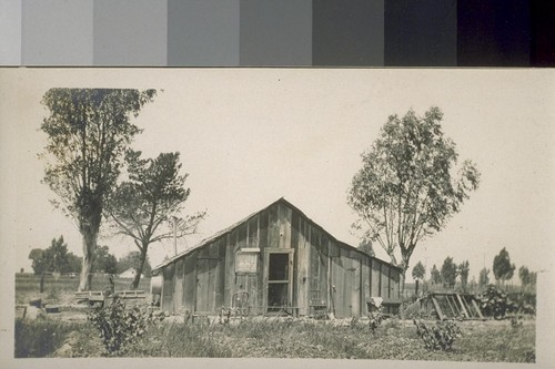 Jap farm house, near Sacramento, Cal. [Housing for Japanese farm laborers.]