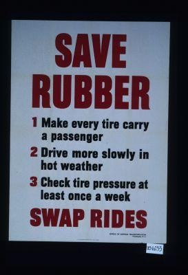 Save rubber ... swap rides