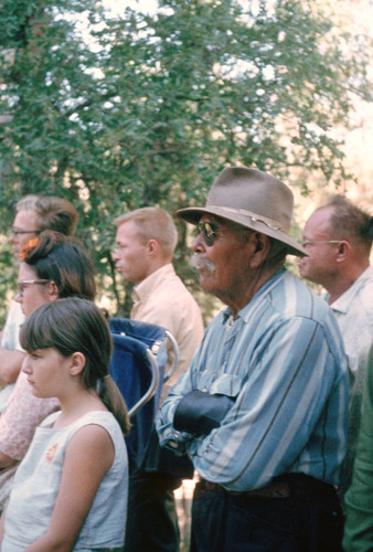 Unidentified group of spectators at the Tuolumne Rancheria