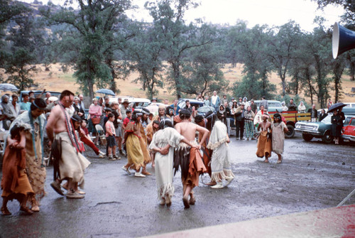 Maidu dancers performing at Honey Run Covered Bridge