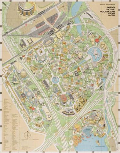 Calisphere: New York World\'s Fair, Official Souvenir Map, 1964/1965