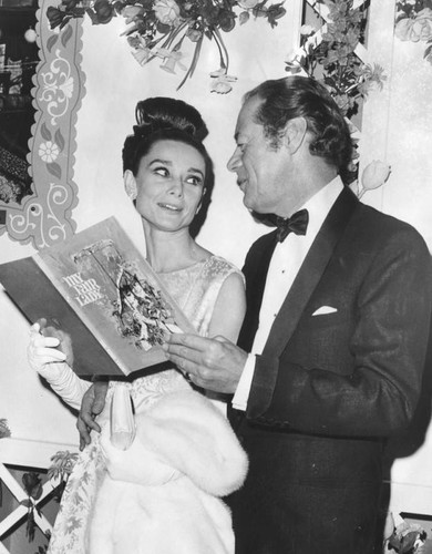 "Hepburn and Harrison, ""My Fair Lady"" premiere"