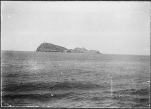 Island with lighthouse, Red Sea, Africa, 1901