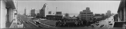 Downtown, facing south, Long Beach. July 25, 1946