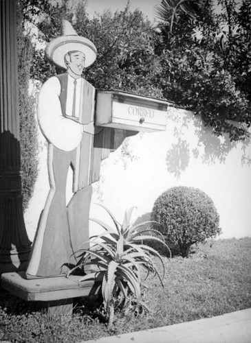 Mailbox with Mexican performer cutout