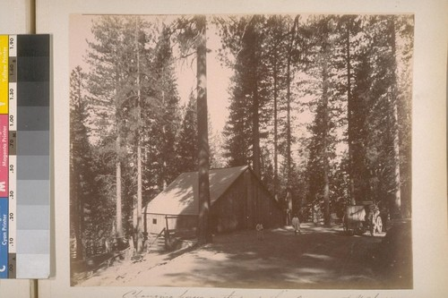 Changing horses on the road from Wawoona [i.e. Wawona] to Yo Semite [i.e. Yosemite] Valley (Mariposa Co. Cal.). [No.] 33