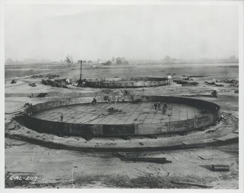 Calisphere: Building the Texaco tank farm, ca  1929, Cypress