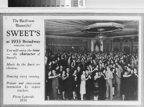 The Ballroom Beautiful [picture] : Sweet's at 1933 Broadway, Oakland, Calif