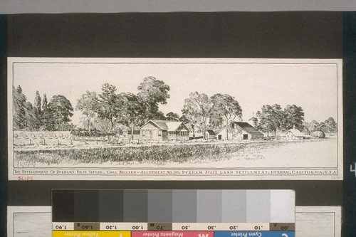 The development of Durham's first settler, Carl Neilsen - Allotment No. 10, Durham, California, U.S.A