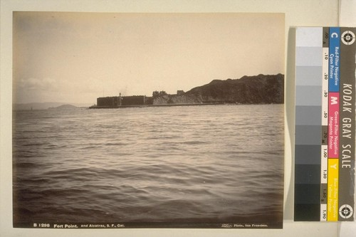 Fort Point, and Alcatraz, S [San] F [Francisco], Cal. [California]--B1298