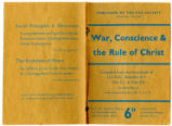 War, conscience & the rule of Christ : compiled from the encyclicals of Leo XIII, Benedict XV, Pius XI & Pius XII