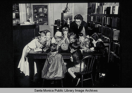 childrens halloween party at the fairview branch library santa monica calif