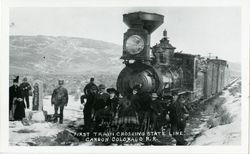 Carson and Colorado Railroad. First Crossing of California-Nevada State Line