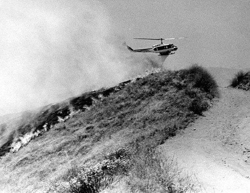 Los Angeles City Fire Department Helicopter No. 1 in Sylmar Foothills