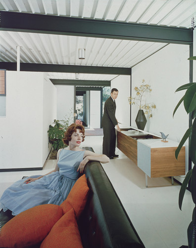 View of Living Room, Color Photo by Shulman