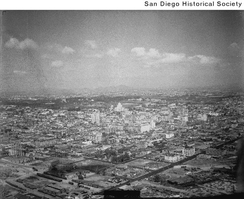Aerial view of San Diego looking northeast from downtown San Diego