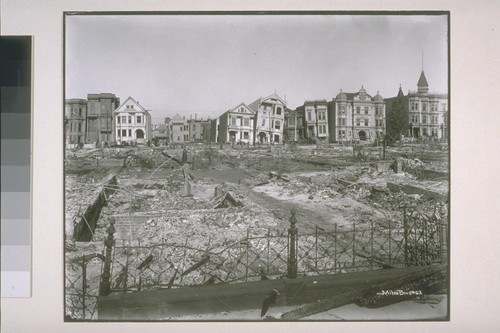 Group of wrecked houses, 17th and Howard Streets