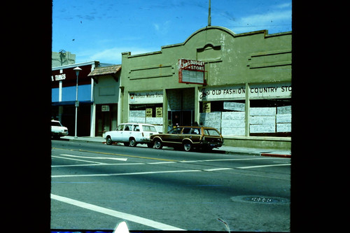 Joe's Budget Store at the corner of South Main and Burnett Street in 1977
