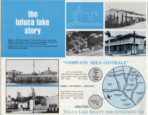 Calisphere Toluca Lake Promotional Brochure Circa