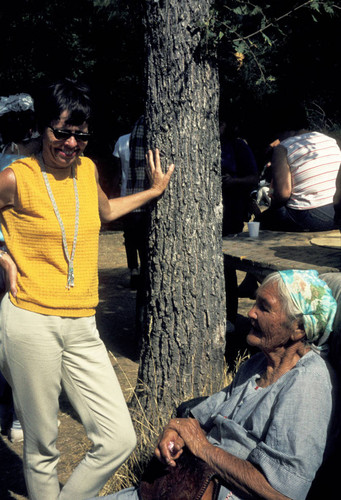 Two unidentified women at the Tuolumne Rancheria