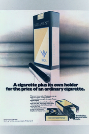 A cigarette plus its own holder for the price of an ordinary cigarette
