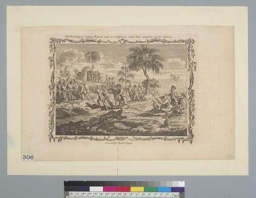 The landing of Captain Rogers's men at California, and their reception by the natives