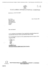 [Letter from Norman Jack to P Tlais Abu Hameed regarding cancellation of outstanding cheques and reconciliation with the records]