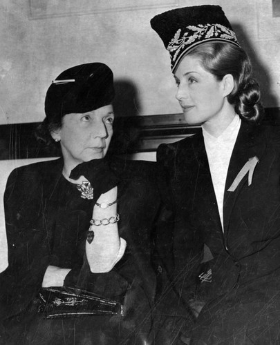 Norma Shearer and her mother