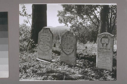 Graves near Camptonville. 1940