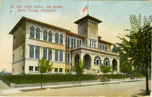 San Rafael High School, San Rafael, California, circa 1900 [postcard]