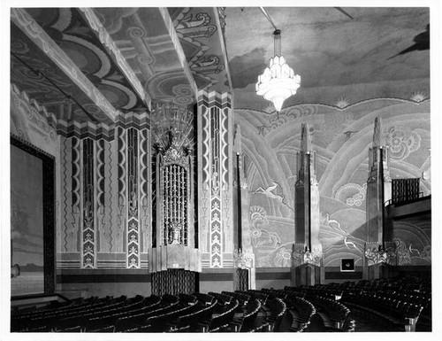 Inside the grand Fox Cinema in Phoenix - now demolished