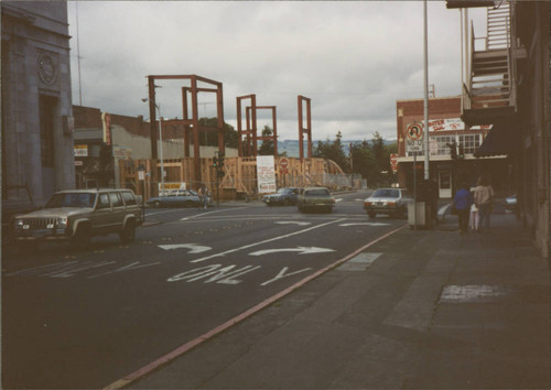 Construction of the building at 100 Petaluma Boulevard North, Petaluma, California, about 1989