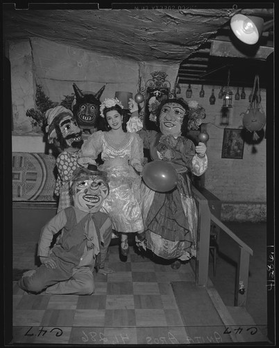 Costumes for a fiesta on Olvera Street, Los Angeles (Calif.)