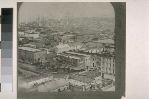 Telegraph Hill, from Sansome and Vallejo looking south. [Photograph by Thomas Houseworth and Co.]
