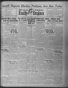 Daily Trojan, Vol. 20, No. 126, April 24, 1929