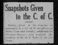 Snapshots given to the C. of. C