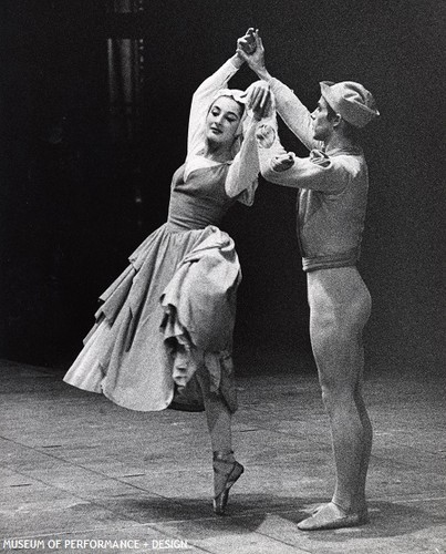 Cynthia Gregory and a male dancer in Christensen's Lady of Shalott, circa 1963