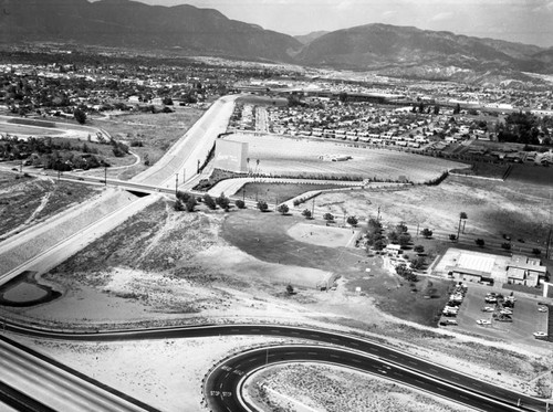 Laurel Drive-In, Pacoima, looking north