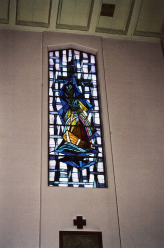Stained glass window, St. Anthony Catholic Church