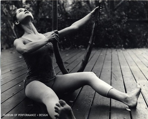 "Simone Forti in Anna Halprin's ""The Branch"""