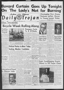 Daily Trojan, Vol. 46, No. 107, March 29, 1955