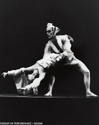 Tina Santos and Gary Wahl in Smuin's Shinjū, 1975 — Calisphere