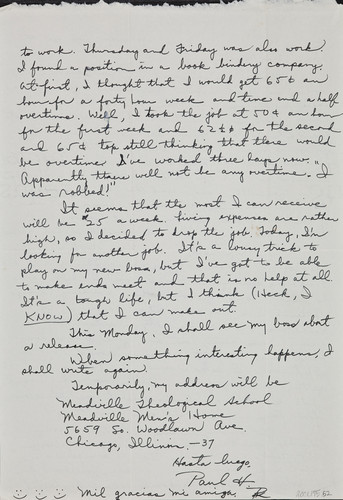 Letter from Paul H. [Kusuda] to [Afton] Nance,1943 June 5