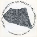 Bulletin of the Institute for Antiquity and Christianity, Volume XXII, Issue 4