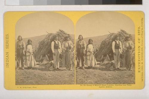 Group of Miguel's Band, Coyetero Apaches, near Camp Apache, Arizona