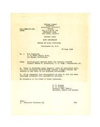 Letter from Navy Department, Bureau of Naval Personnel to U. S. Naval Repair Base in San Diego, California, June 27, 1946