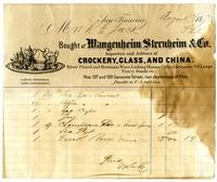 Wangenheim Crockery receipt