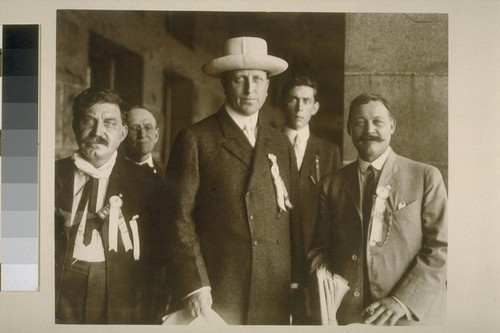 [William Randolph Hearst with four men.]