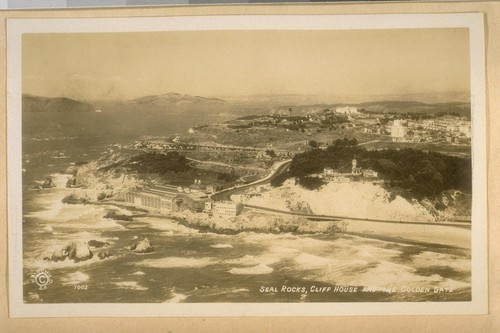 Jany 1932. Seal Rocks, Cliff House and the Golden Gate